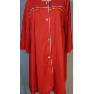 Vintage Pajamas Housecoat Robe - Size M?